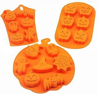3 PCS Silicone Halloween Ghost Pumpkin Baking Mold Set