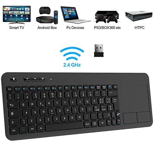 TedGem Tastiera Wireless PC, 2.4G Tastiera Wireless Smart TV...