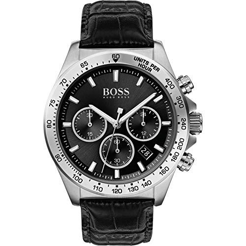 Hugo BOSS kwarts horloge met lederen kalfsleer armband 1513752