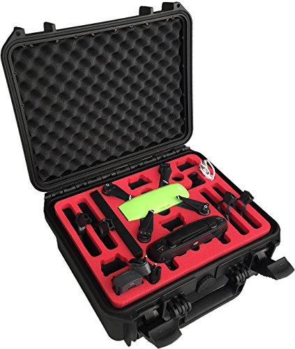 mc-cases Maleta Professional Hecha para dji Spark (edición Fly More Explorer) con Espacio para 6 baterías y Accesorios (Edición compacta) by