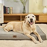 Asvin Memory Foam Orthopedic Large Dog Bed, 3.5 Inches Thick Big Dog Bed for Large Dogs up to 80-100lbs, 2 Layers Waterproof Lining Dog Bed with Removable Washable Cover