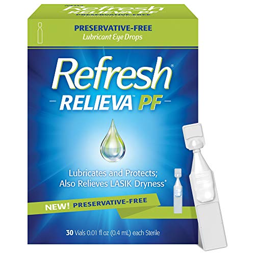 Refresh Relieva PF Lubricant Eye Drops, Preservative-Free, 0.01 Fl Oz Single-Use Containers, 30...
