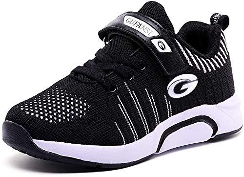 GUFANSI Basketballschuhe Jungen Schuhe Turnschuhe Kinder Sportschuhe Mädchen 37 Laufschuhe Hallenschuhe Leicht Atmungsaktiv Walkingschuhe Outdoor Fitnessschuhe Schwarz Kinderschuhe für Laufen Schuhe