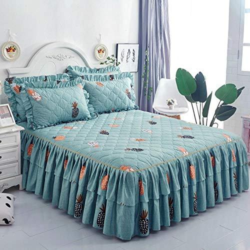 CYYyang Protector de colchón, algodón, poliéster, Hoja de Cama de Encaje de Falda de Cama Gruesa-7_180 * 200cm
