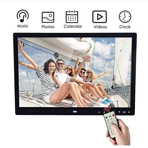 BHDYHM digitale fotolijst HD 33 cm (13 inch) LED Panorama 16: 9 met kaartsleuven voor USB/SD-kaarten en afstandsbediening voor digitale beelden.