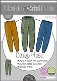 Papierschnittmuster Damen Cargo Hose Damen - DIN A 0 Schnittmuster und Anleitung als Broschüre Größe 32 bis 48