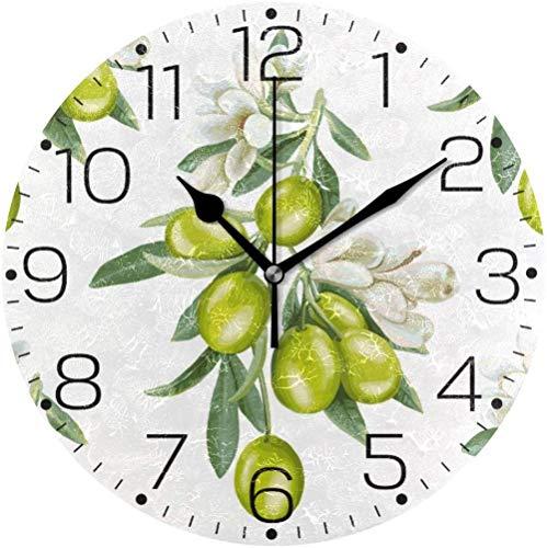 Horloge Murale Silencieuse pour Cuisine Salon Chambre Bureau TETAKE 40cm Horloge Murale Noire Vintage Pendule en M/étal