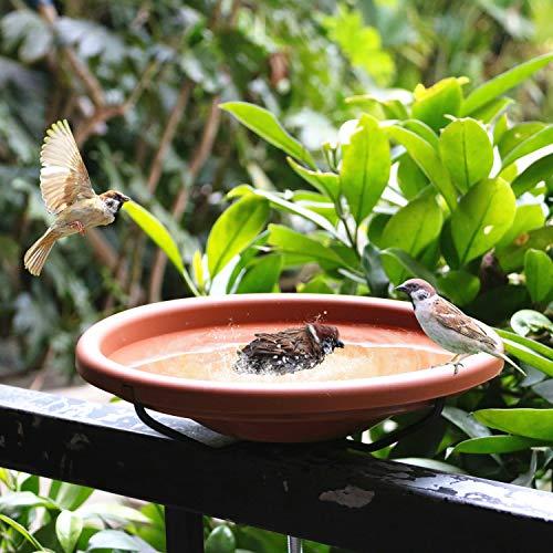 Hanizi 12 Inches Deck Mounted Bird Bath Bowl Spa with Sturdy...