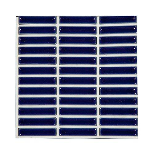 シール式モザイクタイルシート デコレ [ガレット 1枚販売] ブルー 1枚サイズ:15cm×15cm Z3K