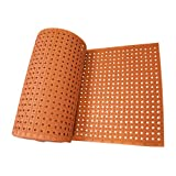 Rubber-Cal 'Paw-Grip' 100% Nitrile Non-Slip Rubber Matting, 3/8' x 34' x 108' , Red