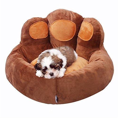 Uiophjkl Veilig en comfortabel Huisdier Producten Herfst En Winter Beer Paw Pets Hond Pad Teddy Hond Nest Kattennest Geschikt voor honden en katten, S, Chocolade