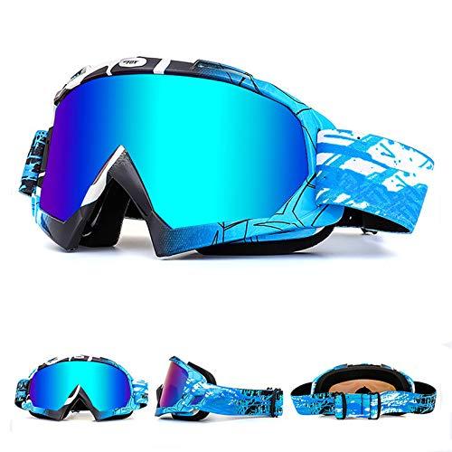 OTG Ski Snow Goggles, 100% UV Protection Anti Fog Snowboard Goggles for Men Women Youth Motorcycle ATV Goggles