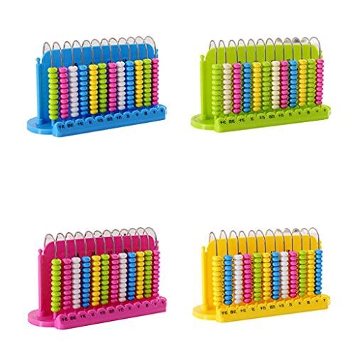 XMCF Calculadora Basica Sobremesa Ábaco Contando Educativos Juguetes Creative Math Abacus Sticks Número Tarjeta Cálculo Herramienta para Niños Regalo Calculadora de Oficina (Color : 4pcs)