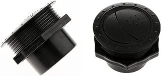 Baoblaze Two Adjustable Car RV Trailer Yacht Side Roof Round Air Vent Ventilation Outlet Black