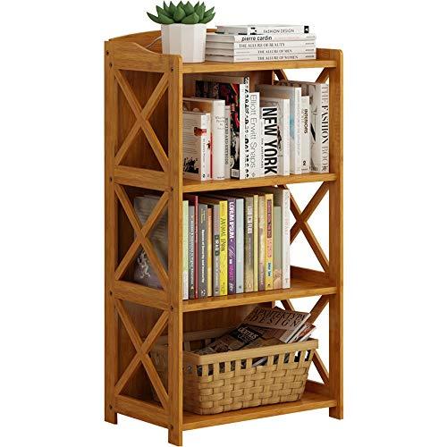 Liuxiaomiao boekenkast met 3 niveaus, compact multifunctioneel, 69 x 29 x 86 cm, natuurlijk voor woon-, ESS- of woonkamermeubels