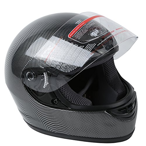 TCT-MT DOT Helmet Adult Carbon Fiber Full Face Motorcycle Street Bike Large New