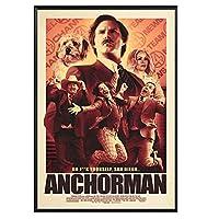 アンカーマン映画ポスター家の装飾壁の装飾壁アートキャンバスプリントキャンバスアートポスターと壁アート写真プリント寝室の装飾ポスター50x75cmフレームなし