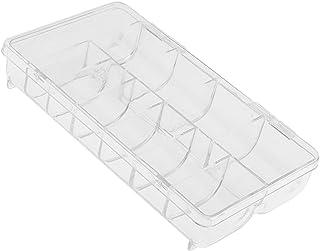 MagiDeal Boîte Vide de Rangement en Plastique Transparent pour 500pcs Faux Ongles Capsule Nail Art Manucure Stockage Organ...