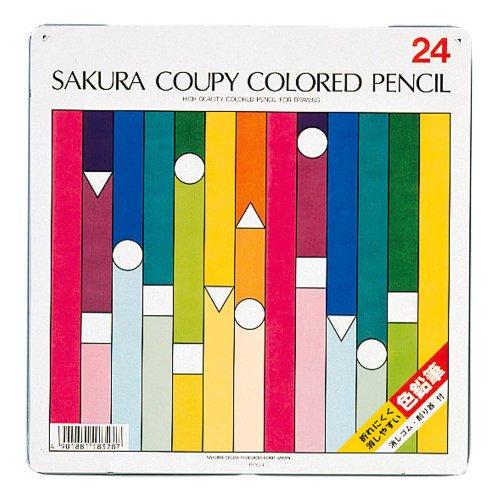 Sakura Color 24 Color Kupi Colored Pencil (Standard) (Japan Import)
