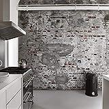 445.404 - Werk II Fototapete Grey & Red Galerie Wallpaper