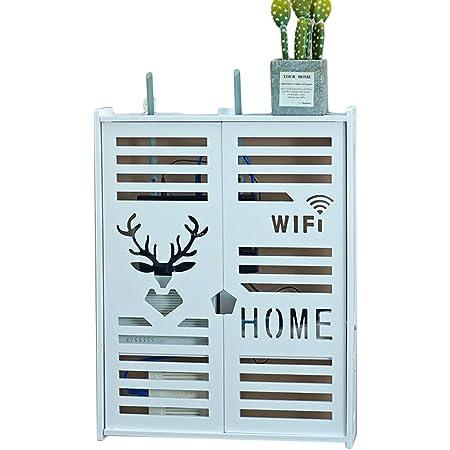 Creativa Router WiFi Rack Serie De TV Set-Top Box De Almacenamiento De La Caja Blanca Caja Multimedia Vertical De Doble Capa De Almacenamiento Rackwall Decoración Estante