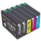 NTT 5 XL Cartucce di ricambio per T7891 T7892 T7893 T7894 compatibile con Epson Workforce Pro WF-5110 5190 DW 5620 5690 DWF C13 T7891 T7892 T7893 T7894 4 4040 10.