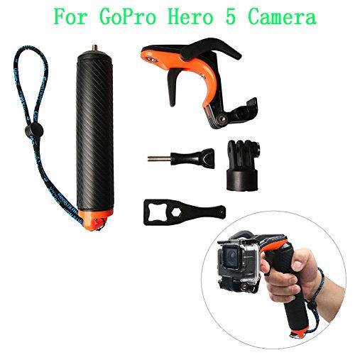 Deylaying Obturateur Gâchette Étanche Main Grip Flottant Selfie Bâton pour GoPro Hero 5 Caméra