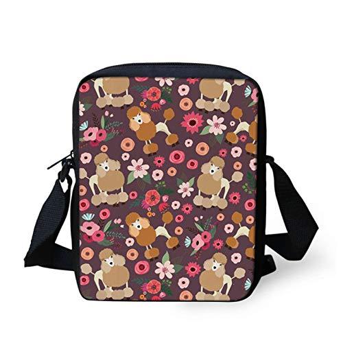 HUGS IDEA Bolso floral para mujer, monedero para teléfono celular, elegante amante de las mascotas, morado para mujer, para viajes, compras, senderismo, uso diario