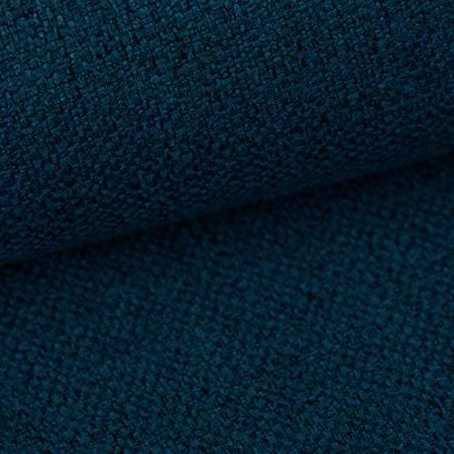Teker Atena Polsterstoff Möbelstoff Meterware - z.B. Stoff für Stühle oder Eckbank Bezug - Dunkelblau