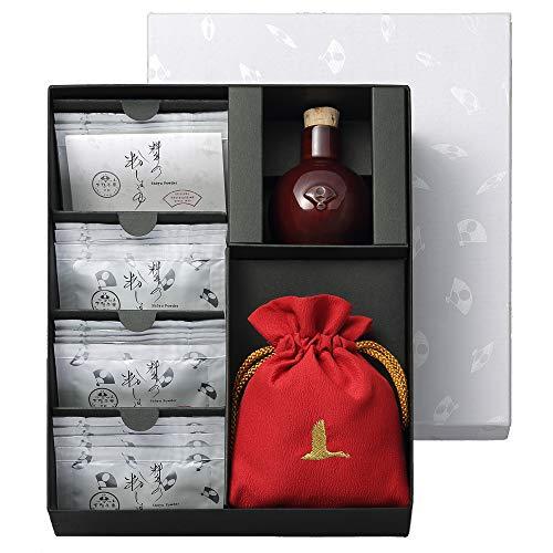 料亭の粉しょうゆ ギフトボックス陶器・巾着赤 2g×16袋