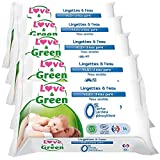 Love & Green - Amor y verdes Sensitive Wipes 56 Piezas Lote 5