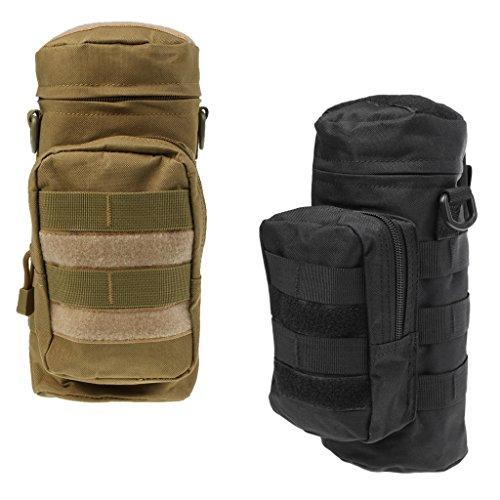 MagiDeal 2pcs Sac de Bouteille d'eau Style Militaire Pochette Tactique en Nylon pour Sports de Plein Air Voyage Camping Escalade