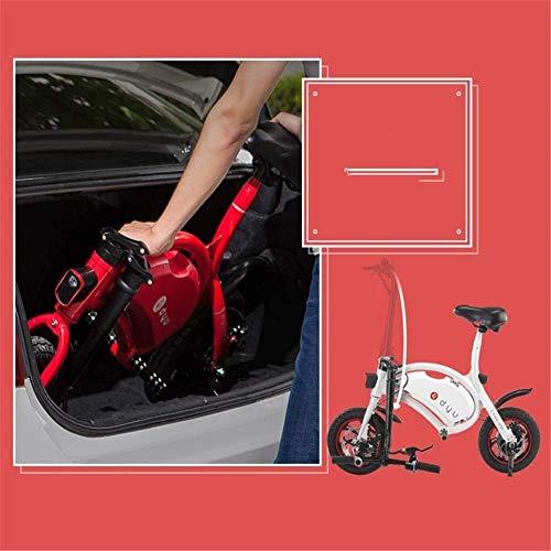 Nfudishpu Transformando Scooter eléctrico Mini-Drive Aleación de Aluminio Coche eléctrico Plegable Impermeable, Rueda de Goma Scooter portátil Inteligente para Adultos (Color: 2)