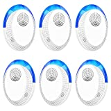 Bocianelli Ultrasonic Pest Repeller, 6 Packs, Electronic Indoor Pest Repellent Plug in for Insects, Pest Control for Living Room, Garage
