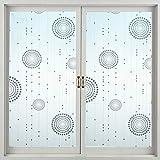 Pellicola per Vetri Colorati Selbstklebende Fensterfolie Pet Perlenvorhänge Feuchtdach Datenschutz Milchglasfolie für Badezimmer Schlafzimmer Küche Balkon-90 * 200Cm
