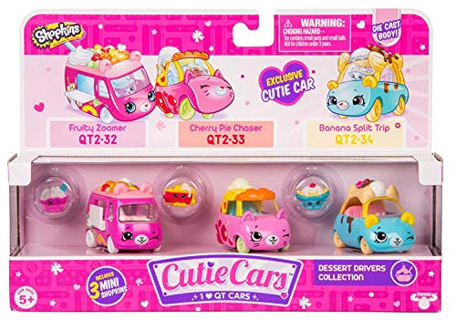 Cutie Cars Shopkins Three Pack - Dessert Drivers Collection