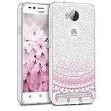 kwmobile Huawei Y3 II (2016) Hülle - Handyhülle für Huawei Y3 II (2016) - Handy Case in Indische Sonne Design Pink Weiß Transparent