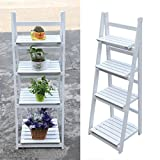 4 Tier Flower Stand Outdoor Wooden Garden Home...