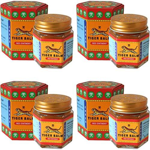 4 Jars of Tiger Balm Red Ointment 30g/Jar (Large Jar!)