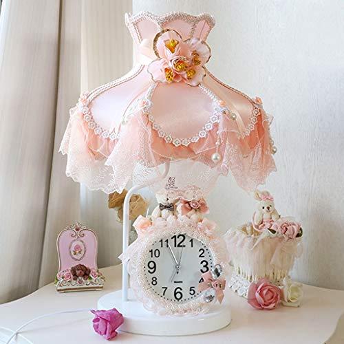 Lfixhssf kantstof kleine tafellamp slaapkamer prinses geschenk bruiloft in de slaapkamer lamp met witte dimmer Lfixhssf