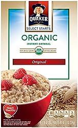 Quaker organic oatmeal.