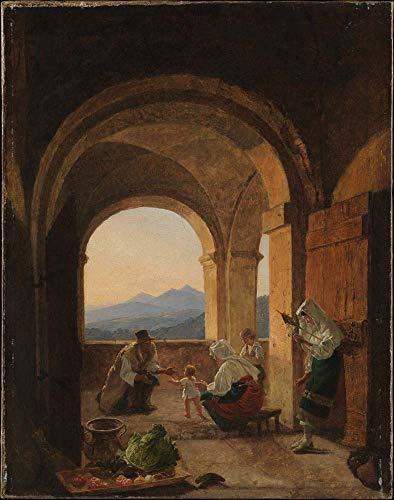 Franz Ludwig Catel - Primeros pasos (ca. 1820-25), arte vintage, 12 x...