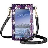 Qingeng Teléfono de pantalla táctil monedero fuerte resistencia bolso con correa traje para mujeres compras viajes senderismo