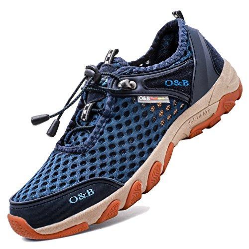 MERRYHE Mesh Été en Plein Air Hommes Séchage Rapide Chaussures Sport Sandales Escalade Randonnée Randonnée Sneaker Montagne Chaussures,Blue-41