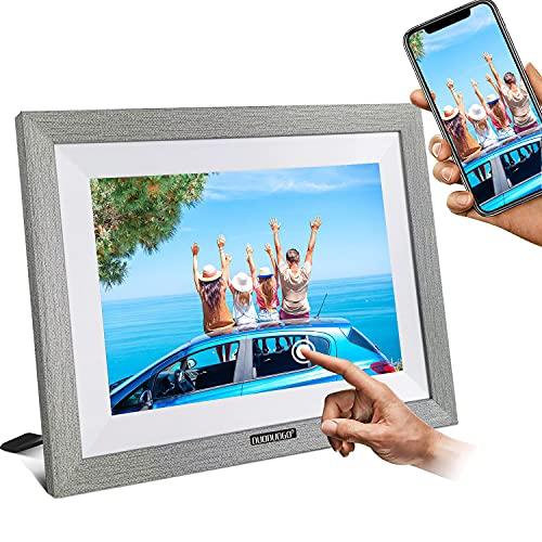 WiFi Cornice Foto Digitale da 10 Pollici con IPS Display Touch Screen Cornice Digitale Condividi Foto e Video Istantaneamente Tramite APP