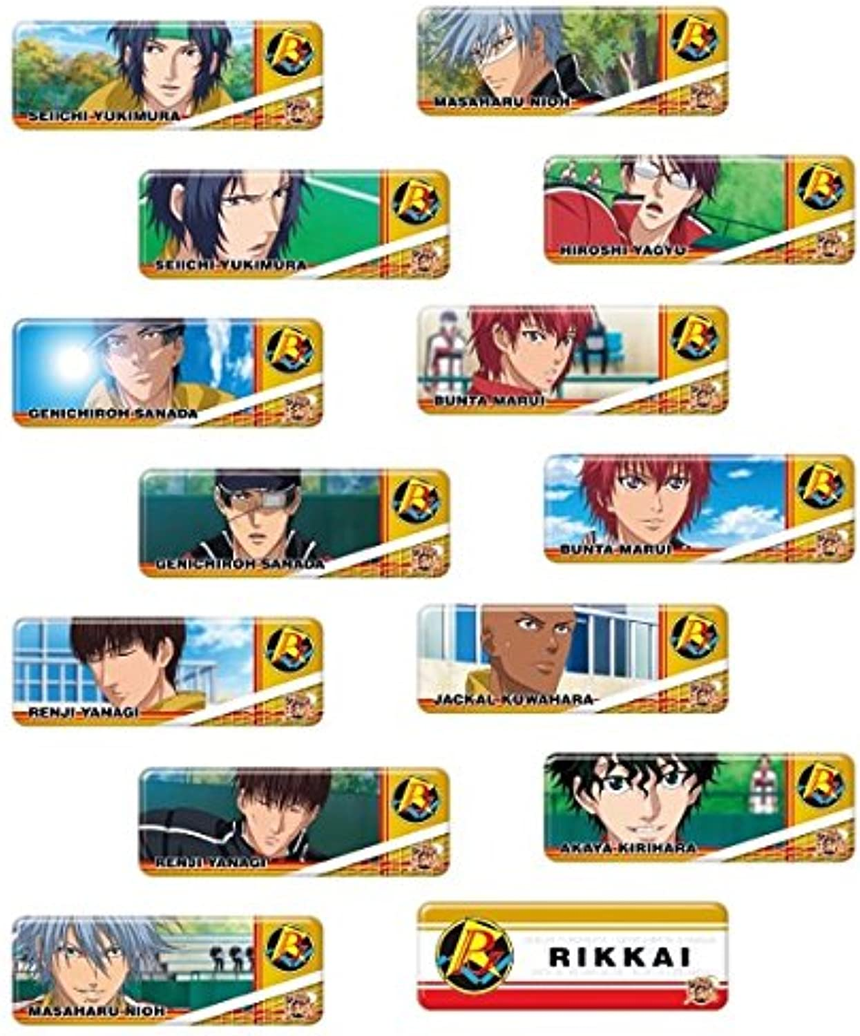 Long Kang Prince of badge collection new tennis Rikkai BOX commodity 1BOX = 14 pieces, all 14 types