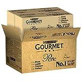 Purina Gourmet Perle Cibo Umido per Gatto Filettini in Salsa Anatra + Agnello + Pollo + Tacchino - 96 x 85 g