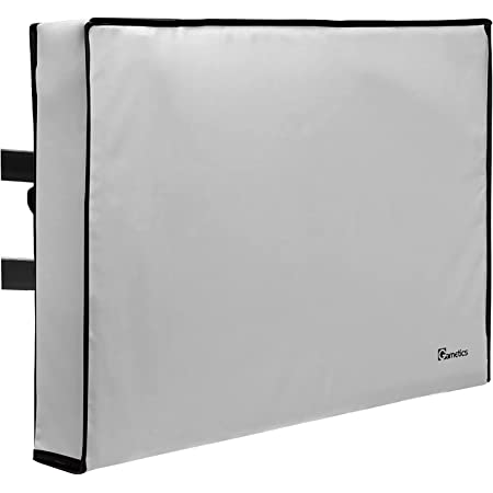 """Outdoor TV Cover 60""""-65"""" inch - Universal Weatherproof Protector for Flat Screen TVs - Fits Most TV Mounts and Stands - Gray"""