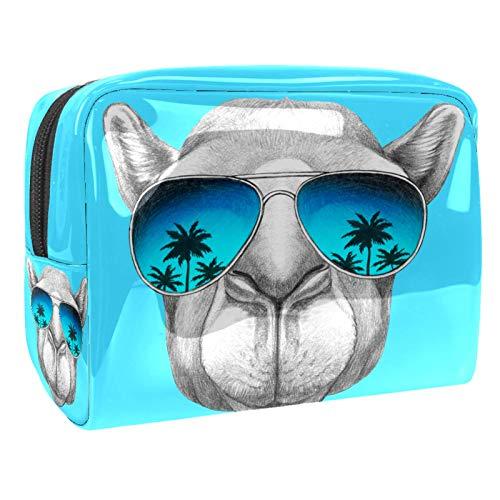 Bolsas de Aseo Gafas de Sol para Perros Hombres y Mujeres Bolsa de Almacenamiento de Viaje Impermeable de PVC Impresa Personalizada 18.5x7.5x13cm