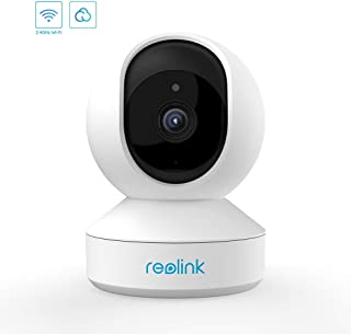 Reolink 3MP WiFi-Baby-Monitor-Pet-Camera Indoor Surveillance Work with Google Assistant, 2.4GHz Wireless for Home Security with Pan Tilt/Night Vision/Two Way Audio/Motion Detection/Cloud Service, E1
